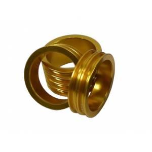 "NECO Кольцо проставочное 1-1/8""х20мм золотое, шлифованное, алюминий"