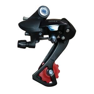 Переключатель задний HG-34A дискретный длиная лапка, ёмкость 36T, крепление на петух, сталь/пластик, в торг.уп