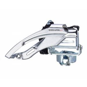 Переключатель передний QD-30 дискретный, универсальная тяга, для 21/24ск., стальной зажим D:31,8/34,9, макс.42T, ёмкость 20T, в торг.уп