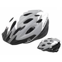 Шлем KELLYS BLAZE для MTB-XC, матовый белый, M/L (58-64см). 19 вентиляционных отверстий, система регулировки STL 3.0, новый козырёк, отражающий стикер сзади