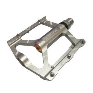 Педали mlg-CK563 алюминиевые CNC, 90х94х11мм, ось CrMo, 3 подшипника, сменные шипы, вес 288г/пара, в торг.уп