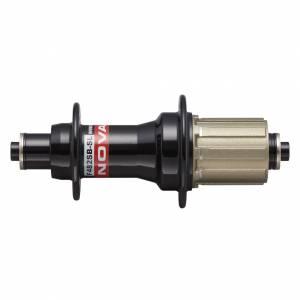 Втулка задняя NOVATEC F482SB-SL-11S, 28H, алюминиевая ось: 10x140x130, D=42.4мм, чёрная, под Shimano 11S, без эксцентрика