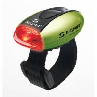 SIGMA фонарик MICRO красный, корпус зеленый