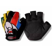 Перчатки HP09 детские, ладонь 55% полиэстер, 45% виниловая кожа, амортизирующие вставки, защита от соскальзывания, тыльная сторона с теплоотводящим принтом, S(8,5х11,1см), полосатые