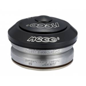 """NECO Рулевая H51 интегрированная 1-1/8""""х30мм, высота 9,4±0,5мм, алюминий, CNC, вес 62,5г, промподшипники 41,8x45°x45°, крышка 7,8мм, чёрная, 6 частей, в торг.уп."""
