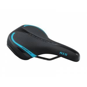 Седло COMFORTLINE, 277х162мм, цвет: чёрное с синей полоской