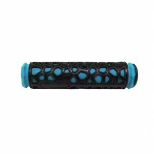 HUALONG Грипсы 22,2х130мм, резина, чёрно-голубые,торг.уп.