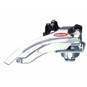 Переключатель передний QD-23 дискретный, универсальная тяга, для 21/24ск., стальной зажим D:28,6/31,8, макс.48T, ёмкость 22T, в торг.уп