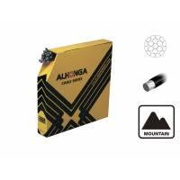 ALHONGA Трос тормоза 1,5х2000мм гальванизированный с тефлоновым покрытием, головка 7x6мм (для MTB) 50шт./кор.