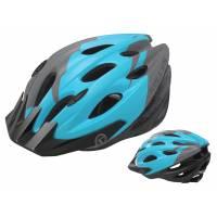 Шлем KELLYS BLAZE для MTB-XC, матовый синий, S/M (54-57см). 19 вентиляционных отверстий, система регулировки STL 3.0, новый козырёк, отражающий стикер сзади