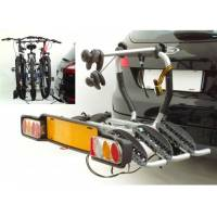 Peruzzo Автобагажник на фаркоп SIENA FISSO сталь, для 3 в-дов весом до 17кг, фиксация велосипеда: колёса установ. в полозе, за трубу рамы (max D:60 мм), цвет: серый, упаковка-картонная коробка