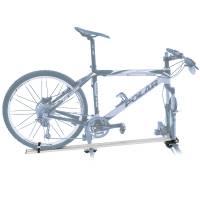 Peruzzo Автобагажник на крышу PORDOI DELUX (совместим с диск. торм.), алюминий, для 1 в-да весом до 15 кг, колесом до 65мм шириной, на дуги до 70 мм, длинный полоз - под весь велосипед, серый, защитное покрытие, упаковка-карт. короб.