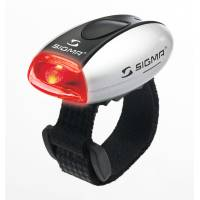 SIGMA фонарик MICRO красный, корпус серебристый