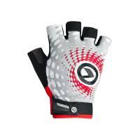 Перчатки IMPACT short (без пальцев) Lycra, белый/серый/красный, XL