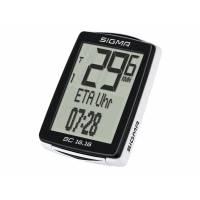 SIGMA Велокомпьютер BC 16.16, 16 функций: скорость текущая/ средняя/ сравн. тек.и средней/ максимальная; расстояние за день/ общее (байк1/байк2); время в пути за день, общее (байк1/байк2); часы (12/24); дисплей ETA (время/ часы/расстояние); температура; с
