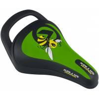 Седло KLS WASPER детское, 245x145мм, с ручкой, зелёное