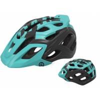 Шлем KELLYS DARE туристический, Матовый бирюзовый, M/L (58-61см). 23 вентиляционных отверстия, система регулировки STL 3.0, интегрированная сетка от насекомых, съёмный козырёк, сзади отражающий стикер