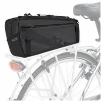 Сумка на багажник KLS SPACE 10, объем: 10л, 35х18х16см, влагостойкий материал: Tarpaulin (нейлон), 2 боковых кармана, резинка-утяжка сверху, съёмный плечевой ремень