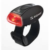 SIGMA фонарик MICRO красный, корпус черный