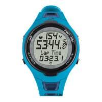SIGMA пульсометр PC 15.11 BLUE: пульс текущий, средний, максимальный; счётчик этапов (до 50); целевая зона с индикатором; % времени тренировки в целевой зоне; зоны интенсивности; счётчик калорий; секундомер; часы; дата; влагостойкость 3 ATM