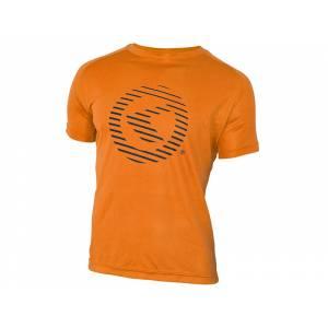 Футболка с коротким рукавом Active для занятий спортом, полиэстер, оранжевая, XXL
