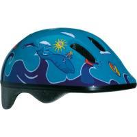 BELLELLI Шлем детский Сине-голубой с дельфинами, М (52-57cm)