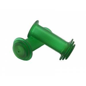 VELO Грипсы VLG-901 детские, 82мм, с фланцами, с закрытым концом, зелёные