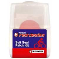 WELDTITE Аптечка RED DEVIL, 6 круглых суперзаплаток-самоклеек, шкурка, блистер (Англия)