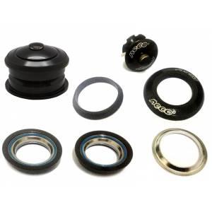 """NECO Рулевая H125 полуинтегрированная нерезьбовая, 1-1/8"""" x 44/50 x 30, высота 10,9±0,5мм, вес 60,8г, алюминий/сталь, промподшипники Ø41x36°x45°, чёрная, крышка 5 мм"""