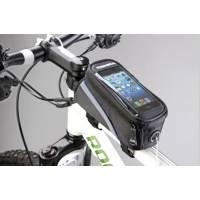 """Сумка на раму L20хH9,5хW9 с отделением для смартфона, окошко 4,8"""", крепление на липучках, материал 420D влагостойкий, светоотражающий кант, отверстие для наушников"""