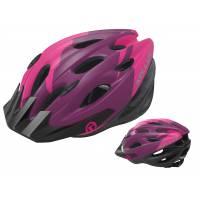 Шлем KELLYS BLAZE для MTB-XC, матовый фиолетовый, S/M (54-57см). 19 вентиляционных отверстий, система регулировки STL 3.0, новый козырёк, отражающий стикер сзади