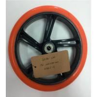 Колесо для самоката, ПУ, D:200x30мм, с подш. ABEC-7 красное