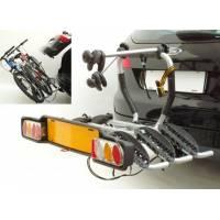 Peruzzo Автобагажник на фаркоп SIENA сталь, откидной, для 2-х в-дов., фиксация велосипеда: колёса установ. в полозе, за трубу рамы max D: 60 мм, зажим-повор.рукоятка, серый, упак.-карт.короб.