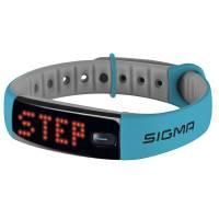SIGMA Шагомер ACTIVO голубой: количество шагов, расстояние, калории, индикация трёх зон активности, часы, продолжительность и качество сна (с приложением SIGMA ACTIV), на правую/левую руку, влагостойкость IPX7