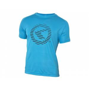 Футболка с коротким рукавом Active для занятий спортом, полиэстер, синяя, XXL