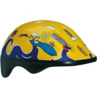 BELLELLI Шлем детский Желто-синий с дельфинами, М (52-57cm)