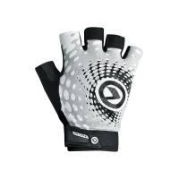 Перчатки IMPACT short (без пальцев) Lycra, белый/серый/чёрный, S
