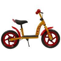"""OLIMP 12"""", беговел, рама: сталь, задний роллерный тормоз, колёса: пластик, подножка."""