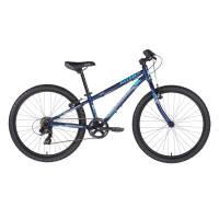 "KELLYS Kiter 30 Deep Blue, подростковый велосипед, колёса 24"", рама алюминиевая 11"", 7 скор., без амортизатора"