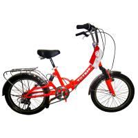 """TOTEM SF-461, складной велосипед, колёса 20"""", V-br, рама: сталь Hi-Ten , двухподвес, 6 скор."""