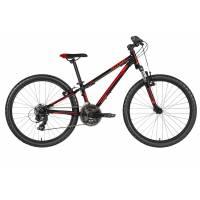 "KELLYS Kiter 50 Black red (24""), подростковый велосипед, колёса 24"", рама алюминиевая 11"", 21 скор."
