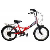 "TOTEM SF-276A susp, складной велосипед, колёса 20"", V-br, рама: Al , передний. аморт., 6 скор."