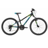 "KELLYS Kiter 50 Black (24""), подростковый велосипед, колёса 24"", рама алюминиевая 11"", 21 скор."