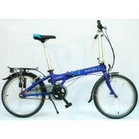 """DAHON Vitesse D7HG Navy, велосипед складной, колёса 20"""", крылья, багажник, насос, 7 скор."""