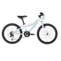 "KELLYS Lumi 30 White, детский велосипед, колёса 20"", рама алюминиевая 10"", 6 скор., без амортизатора"