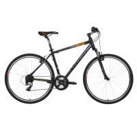 "KELLYS Cliff 30 Black Orange, кроссовый велосипед, колёса 28"", рама: Al 6061 17"", 24 скор."