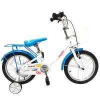 "GRAVITY PANDA, детский велосипед, колёса 16"", рама: Al,1 скор., цвет: бело-голубой"