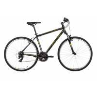 "KELLYS CLIFF 10 BLACK YELLOW, кроссовый велосипед, колёса 28"", рама: Al 6061 21"", 21 скор."