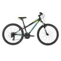 "KELLYS Kiter 50 Black, подростковый велосипед, колёса 24"", рама алюминиевая 11"", 21 скор."