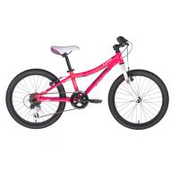"KELLYS Lumi 30 Pink, детский велосипед, колёса 20"", рама алюминиевая 10"", 6 скор., без амортизатора"